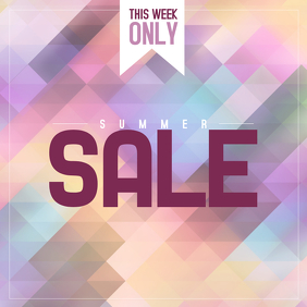 summer sale instagram pos free template