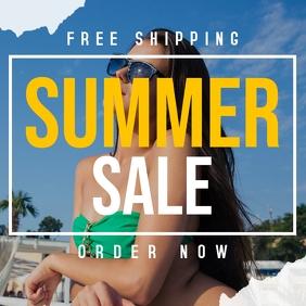 Summer sale instagram post design template Iphosti le-Instagram