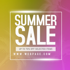 summer sale instagram promotion post template