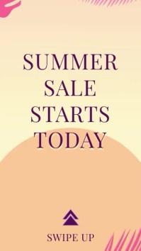 Summer Sale Instagram Story Video Ad Template Digital Display (9:16)
