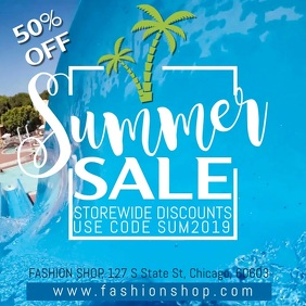 Summer Sale Instagram Template