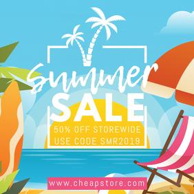 Summer Sale Instagram Template