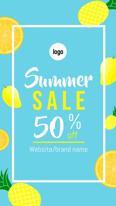 Summer sale intagram story template