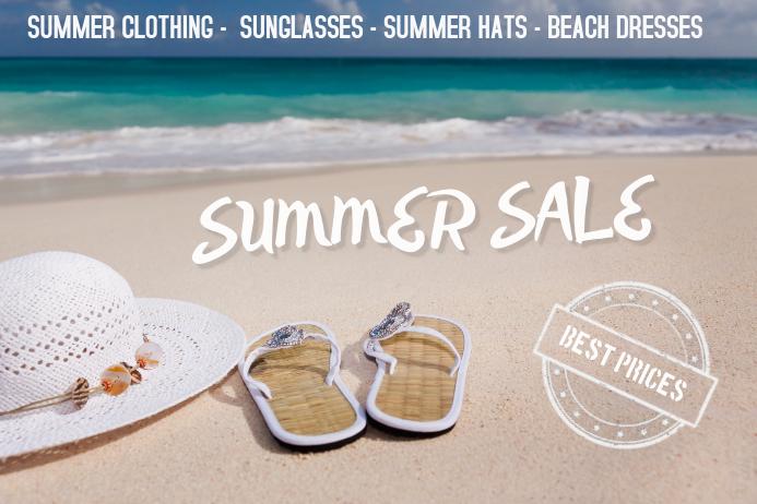 summer sale flyer template landscape