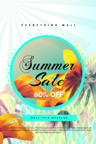Summer Sale Light Blue Poster