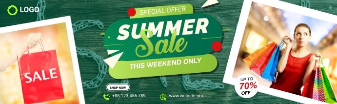 Summer Sale LinkedIn Cover template