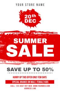 Summer Sale offer Cartaz template