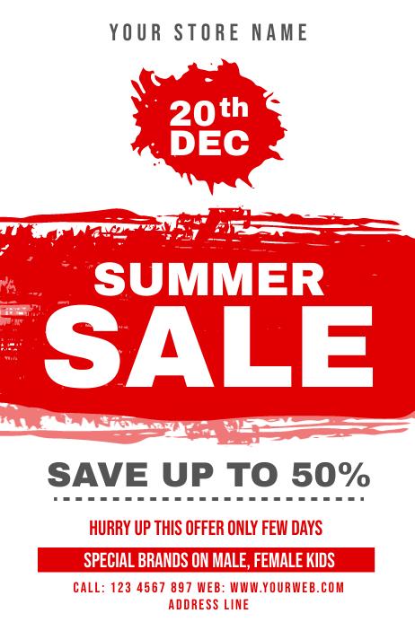 Summer Sale offer Plakat template