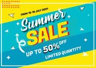 summer sale offer A4 template