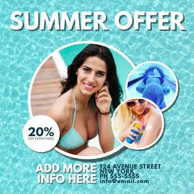 Summer Sale Offer Video Template Multipurpose Instagram