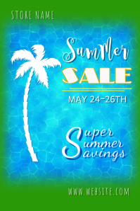 Summer Sale Poster Póster template