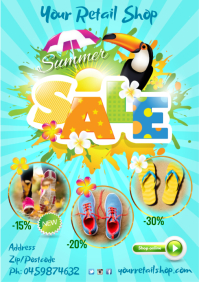 Summer Sale Poster A3 template