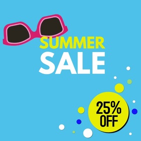 Summer Sale Poster Retro Store Shopping Sunglasses Discount