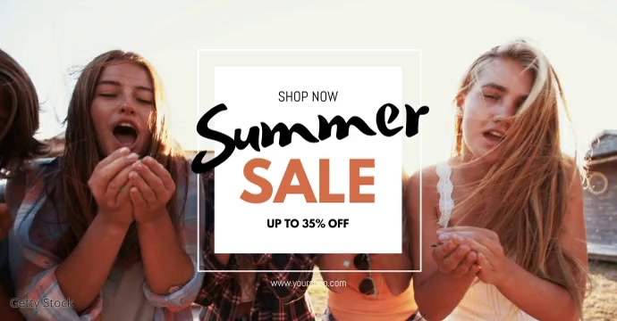 Summer Sale promo shopping beach party ad Facebook-Anzeige template