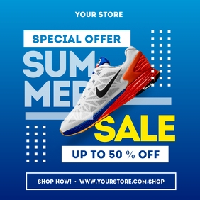 Summer Sale Shoes Social Media Template