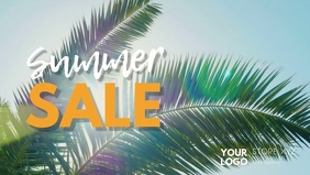 Summer Sale Sun Palms Sky Fashion Retail Ad