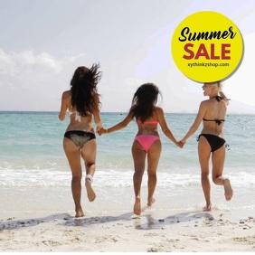 Summer Sale Swimwear Fashion specials discount advert woman