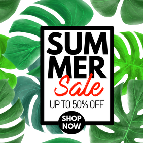 summer sale template flyer
