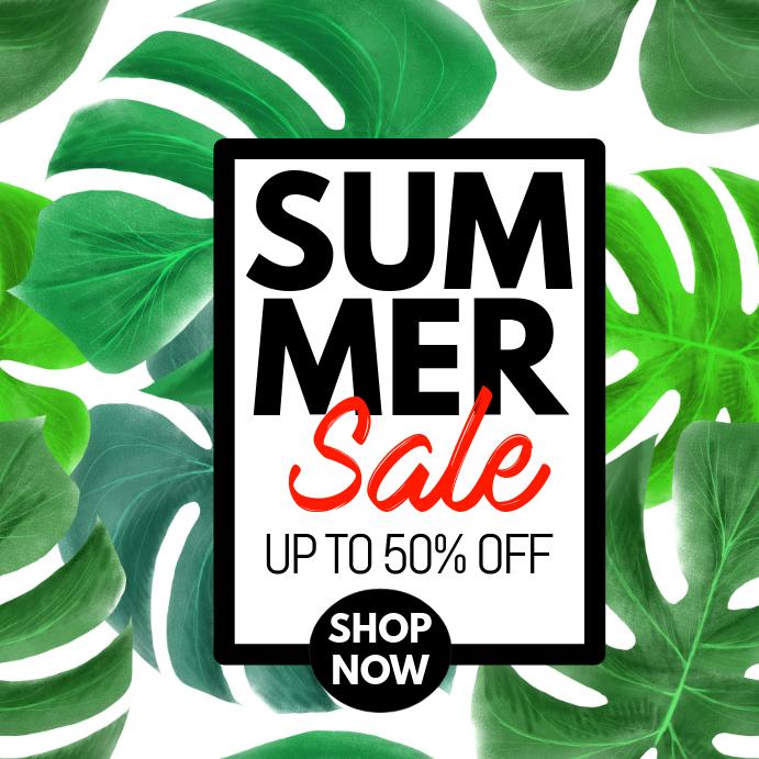summer sale template flyer