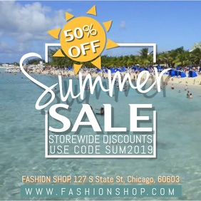 Summer Sale Video Ad Template