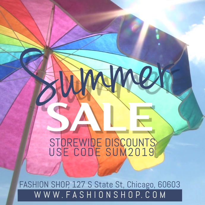 Summer Sale Video Ad Template Instagram-opslag