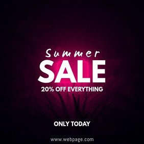 Summer Sale Video ad Template Square (1:1)