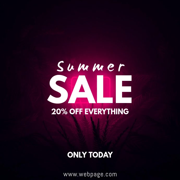 Summer Sale Video ad Template Kvadrat (1:1)