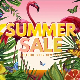 Summer Sale Video Flowers Butterfly Lawn Shop Sun Flamingo