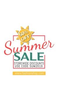 Summer Sale Video Instagram Template