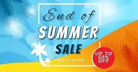 SUMMER SALE Video Template Facebook Shared Image