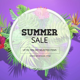 Summer sale video template instagram