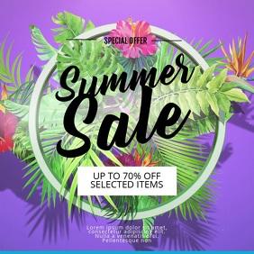 summer sale video template instagram