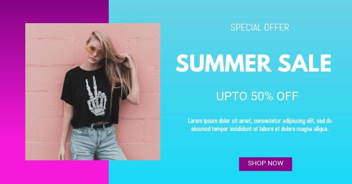Summer Sales Imagen Compartida en Facebook template