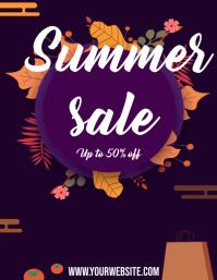 Summer sales Pamflet (VSA Brief) template