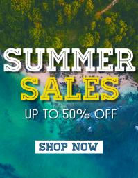 summer sales design template flyer