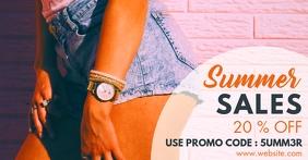 summer sales facebook advertisement template