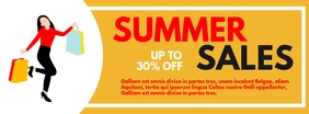 summer sales facebook cover up to 30% off des template
