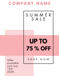 Summer sales pink and black colors