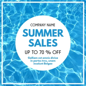 Summer sales up to 70% off Pos Instagram template