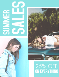 summer sales white and light blue colors desi