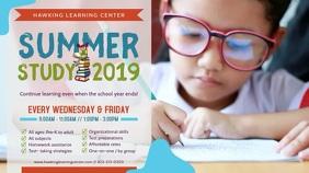 Summer School Classes Advertisement Video Digital Display (16:9) template