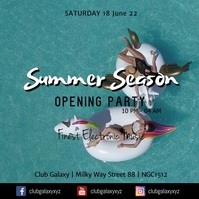 Summer Season Opening Party Club Bar Beach Ad