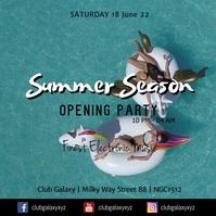 Summer Season Opening Party Club Bar Beach Ad