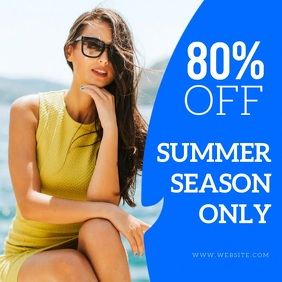 SUMMER SEASON SALE AD TEMPLATE
