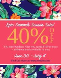Summer Season Sale Flyer Template