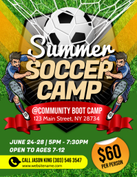 Summer Soccer Camp Flyer