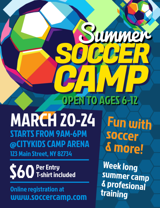Summer Soccer Camp Flyer
