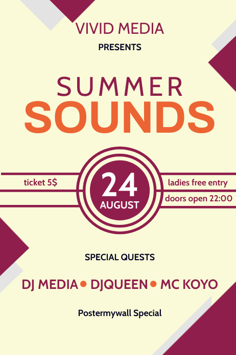 Summer Sound Poster Template