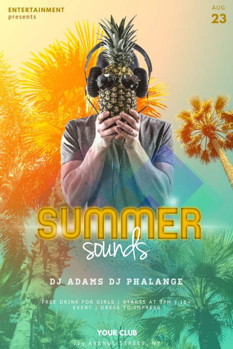 Summer Sounds Party Flyer Template