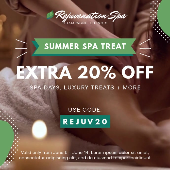 Summer Spa and Massage Deal Ad